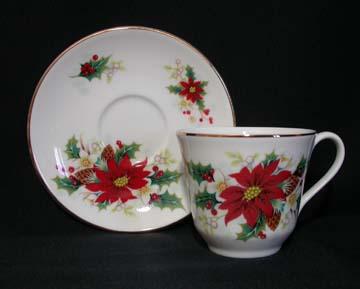 Royal Vale Poinsettia Cup & Saucer
