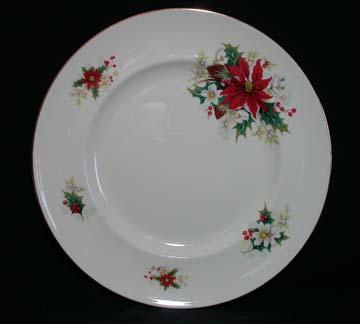 Royal Vale Poinsettia Plate - Dinner