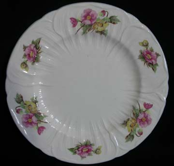 Shelley Begonia Plate - Dinner - Knife Marks