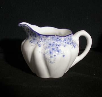 Shelley Dainty Blue Creamer - Small