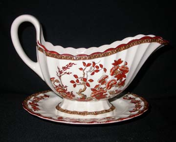 Spode India Tree Gravy Boat & Underplate