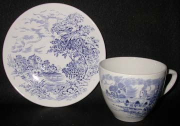 Wedgwood Countryside - Blue Cup & Saucer