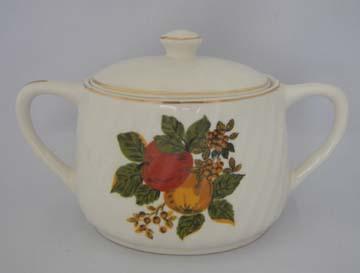 Wedgwood English Harvest Sugar Bowl & Lid