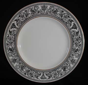 Wedgwood Florentine - Black - W4312 Plate - Dinner