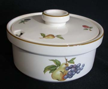 Wedgwood Fruit Sprays Sugar Bowl & Lid