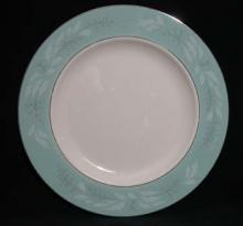 Pattern # 2116 - Eggshell Cavalier/Turquoise Line Floral